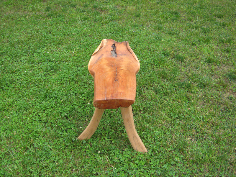 One of a kind end table solid cherry