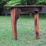 One of a kind freestanding bartop re-claimed black walnut