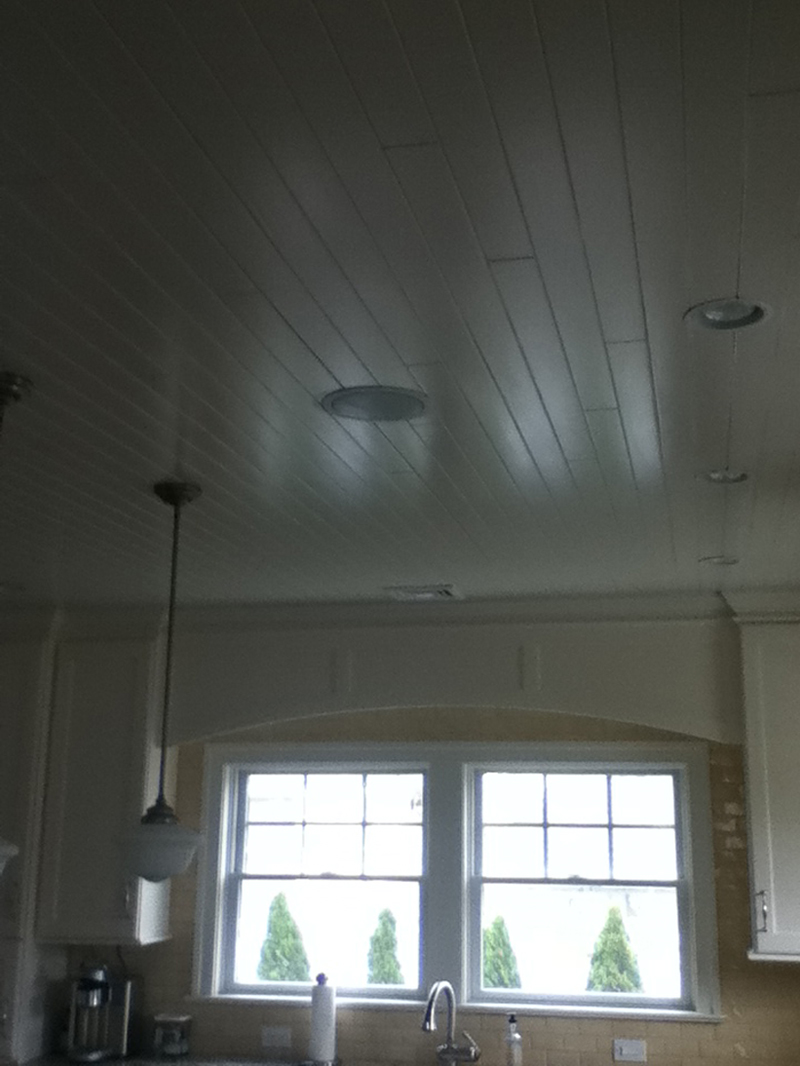 nantucket style v-groove ceiling view 2